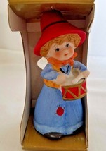 Little Drummer Boy Bell Hand Painted Bisque Porcelain Jasco 1979 - $6.80