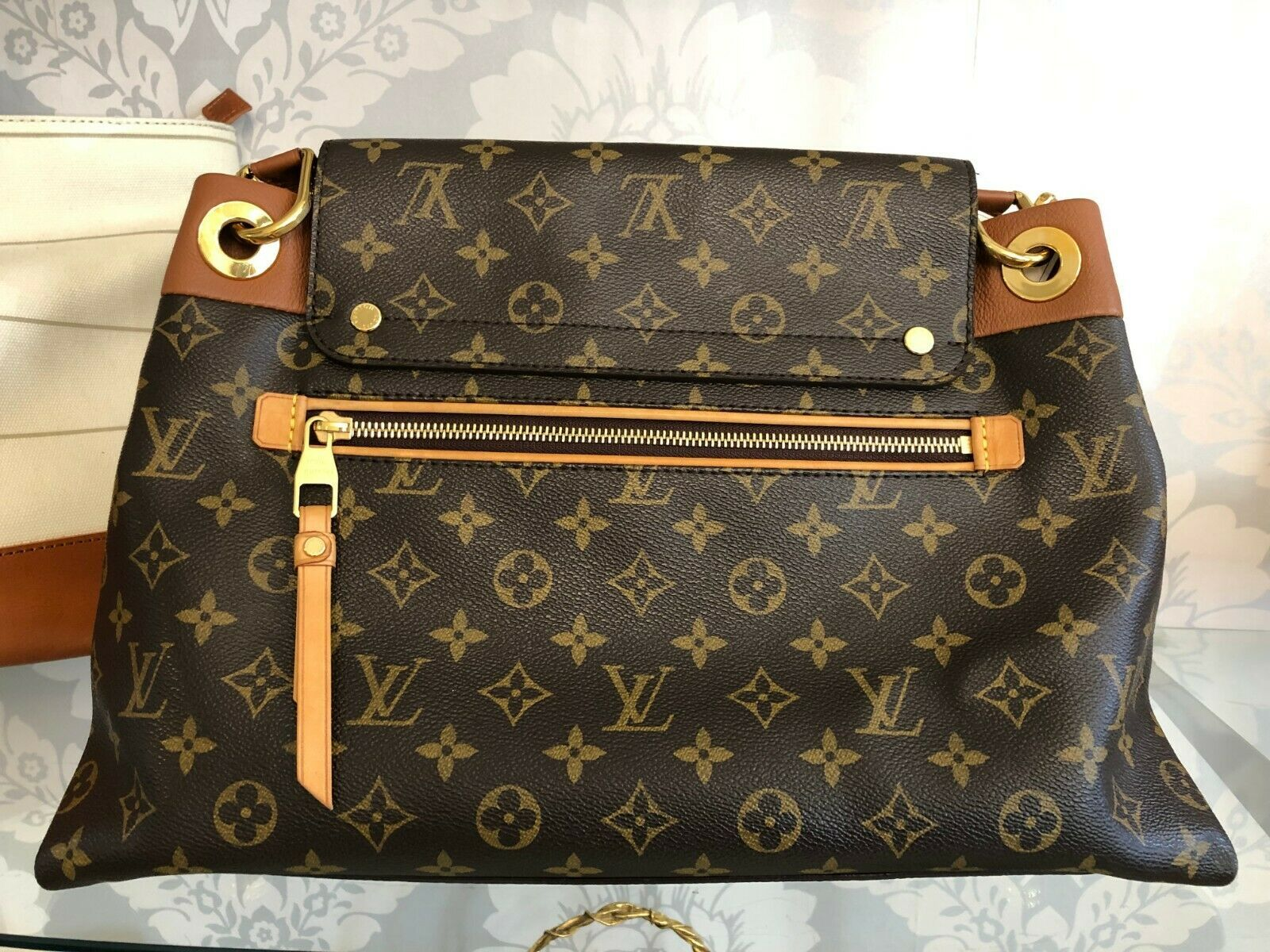 "LOUIS VUITTON ""Olympe MM"" Monogram Canvas & Leather Shoulder Bag w/Buckle $3400 image 3"
