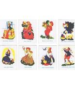 Fairy Tales Card Lot of 8 Miniature Nursery Rhyme Game Cards Vintage Pap... - $8.99