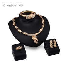 Nigerian African Wedding Brides Personality Jewelry Set Crystal Dubai Go... - $38.99