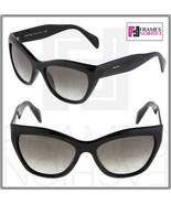 PRADA Poeme Cat Eye PR02QS Shiny Black Gradient Sunglasses 1AB-0A7 Women... - $242.55