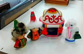 Kazakh family ooak dolls Handmade art dolls - $80.00