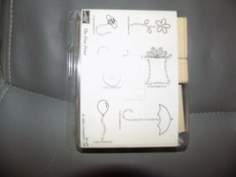 Stampin' Up Rubber Stamp Set Of 6 The Fine Print 2002 New - $24.30