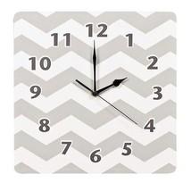 Trlb-100488-trend Lab Chevron Wall Clock Dove Gray - $41.89