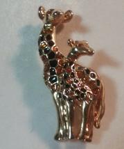 "Vintage Jewelry: 2 3/4"" Mother & Child Giraffe Broach 2016092110 - $8.90"