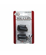 Donna Wig Clips Perfect for Hair Extensions 12pk Large #7983 Brown - $3.95