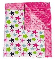 Mermaid Kingdom Patterned Minky Dot Blanket - $29.13
