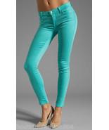 New $178 Designer J Brand Jeans Womens 30 Aqua Blue Teal Super Skinny Columbia  - $178.00