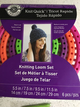 Knit Quick Knitting Loom Set by Loops & Threads Set of 4 Looms New - $16.05 CAD