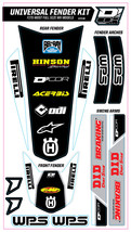 TRIM KIT WHITE WPS UNIVERSAL FOR FULL SIZE MOTORCYCLES D'cor Visuals - $54.95