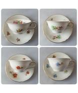 Schumann Vintage China Tea Cups & Saucers 4 Bavaria Germany US Zone Anti... - $57.74