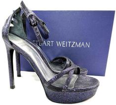 Ankle Platform Stuart Shoes Glitter Sandals 425 Tizyou Pump 7 Weitzman Strappy wHaYfExqE