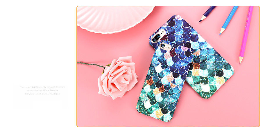 3D Scales Case For iPhone 5 6 7 Plus X Samsung Galaxy S7 Edge Note A5 Huawei P9