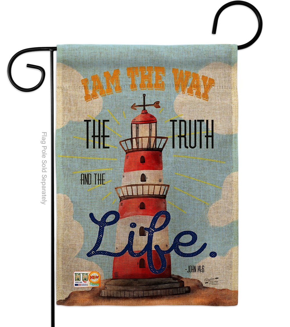 Primary image for I Am The Way Burlap - Impressions Decorative Garden Flag G135037-DB