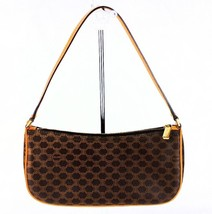 Authentic CELINE Cosmetic pouch Brown monogram canvas Leather CE00/23 - $102.96