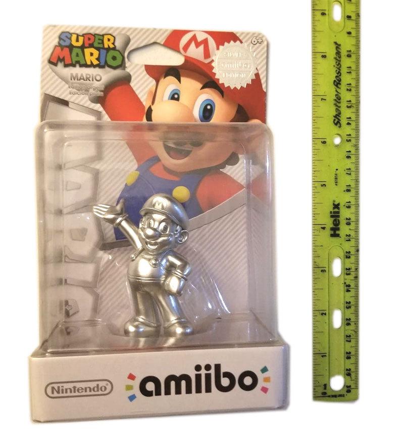 Super Mario Rare Silver Mario Nintendo Amiibo * 3DS / Wii U / Switch Accessory