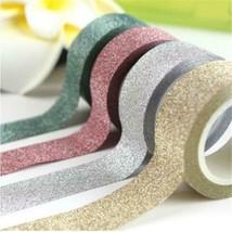 15mm*5m Glitter Washi Tape Set Japanese Stationery Scrapbooking Decorati... - $3.36