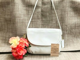 Vintage NWT Rare Coach Cafe Bag in White Leather - Crossbody 4111 - USA ... - $148.49