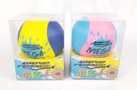 "(Lot of 2) WaveRunner #1 Mega Water Skipping Ball 3.5"" Two Tone Pink Yel... - £7.60 GBP"