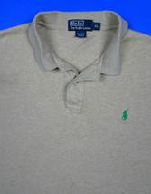 Polo Ralph Lauren Cotton Beige Shirt Mens XL Green Pony Soft Touch Short... - $22.75