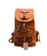 """New 16"""" Rustic Soft Leather Brown Travel Casual Ladies Backpack Rucksack... - $66.75"""