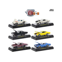 Detroit Muscle 6 Cars Set Release 41 IN DISPLAY CASES 1/64 Diecast Model... - $60.54
