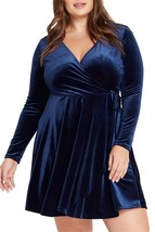 Navy Deep V Neck Bodycon Dress Plus Size ! Only $69.00 ! - $69.00