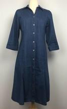 Talbots Classic Denim Shirt Dress Size 6 - $16.14