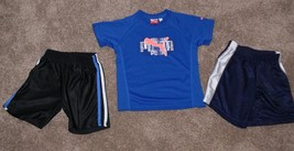 Toddler Boys Outfit Athletic Shorts & Puma Blue Short Sleeve Shirt 24 Month jk - $10.00