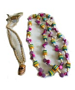 Ladies Fashion Necklaces with Fruits and Wooden beads - 2 pieces per order - $1.29