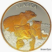 Alaska Mint BEAR & CUBS Silver Medallion Proof 1Oz - $123.74