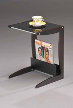 Kings Brand Walnut / Black Accent End Table With Magazine Rack ~New~ - $18.69