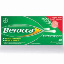 Berocca Performance Effervescent Berry Flavor NO Caffeine 3 Boxes = 90 T... - $78.99