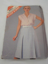Vintage McCall's Skirt blouse cut sewing pattern 8601 - $9.89