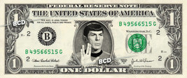 SPOCK on a REAL Dollar Bill Star Trek TOS Cash Money Collectible Memorab... - $7.77