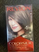 Revlon Colorsilk Permanent Hair Dye Keratin No Ammonia 41 Medium Brown L... - $29.03