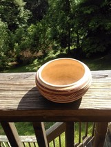 Handmade pottery for plants 2 inch tall 4 inch wide not signed - $2.95