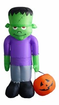 8 Foot Tall Halloween Inflatable Frankenstein Monster & Pumpkin Yard Dec... - $89.00