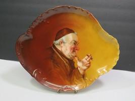 Antique Haviland Limoges France Large Oval Platter Hand Painted Monk Fri... - $123.75