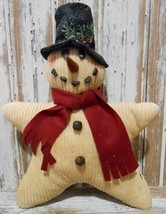 Christmas Decor Pillow   9602CSP - Chenille Star Snowman - $25.95