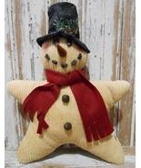 Christmas Decor Pillow   9602CSP - Chenille Star Snowman - $25.95