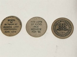 Lot of Three Wooden Nickels / Tokens - $3.99