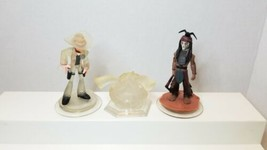 Disney Infinity 1.0 Lone Ranger And Tonto Texas Rangers Crystal Play Set - $13.85
