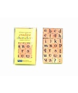 Piccadilly Lower Case Alphabet Creative Characters Rubber Stamp Set / 24... - $118.75