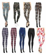 Wholesale Lots Leggings for Women - 9-Pack Tribal Floral Plaid Checker P... - $48.51
