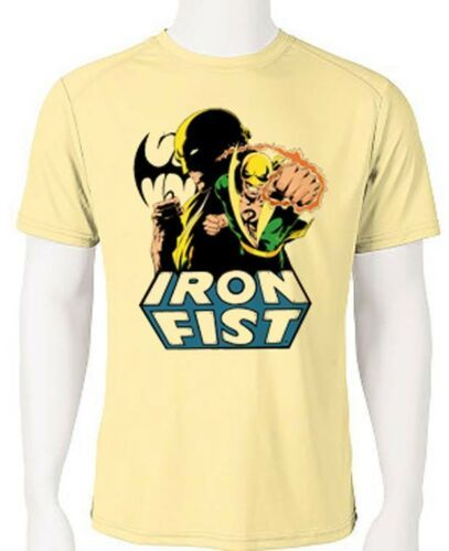 Iron fist dri fit graphic tshirt moisture wicking superhero comic book spf tee