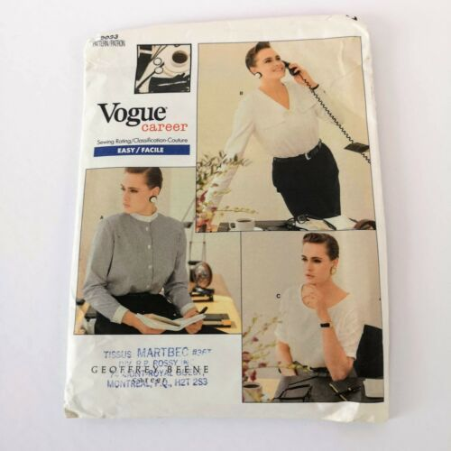 Primary image for Vogue Career 2033 Sz 12 14 16 ​Vogue Career Office Blouse Top Uncut Pattern