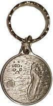 Always By My Side Dog Pet Paw Print Footprint Beach Pewter Color Keychain - $5.93