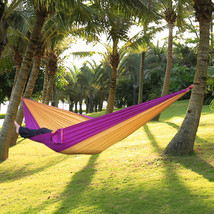 Hammock Portable Camping Nylon Parachute Fabric Bed Travel Outdoor One Person  - $13.00