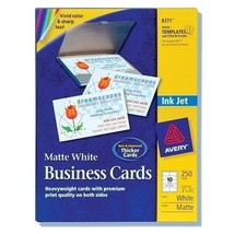 Avery (8371) 2-Side Inkjet Business Cards White 250 Count - $19.06